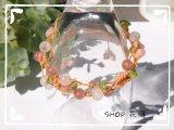 妖精の花かんむり(大人女子向け編みブレスレット)